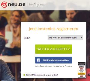 Neu.de - Registrierung
