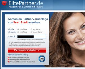 Anmeldung bei ElitePartner