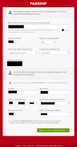 Registrierung Parship abschluss