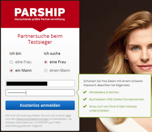 Parship Registrierung - Datensicherheit
