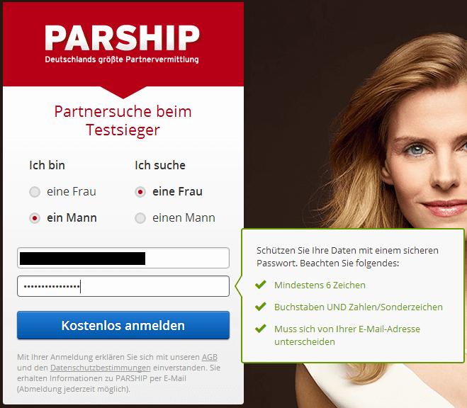 parship registrieren